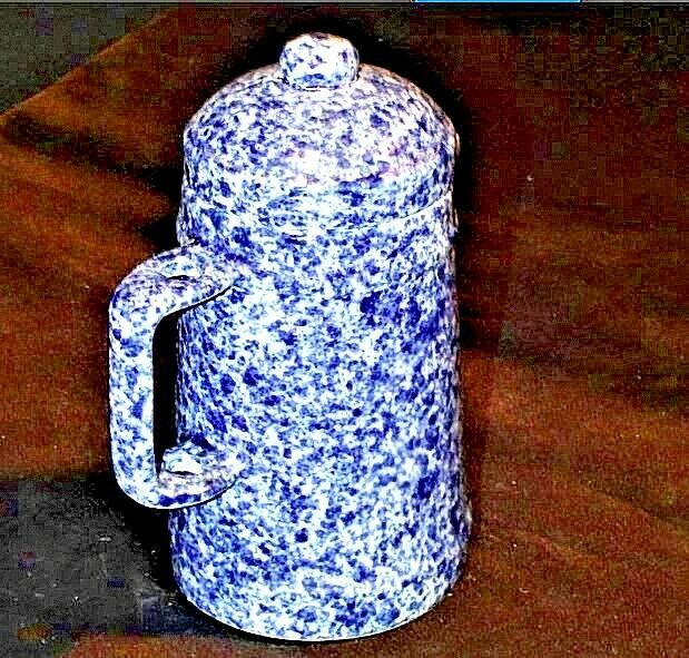 Vintage Stoneware Miniature Coffee Pot AA19-1410