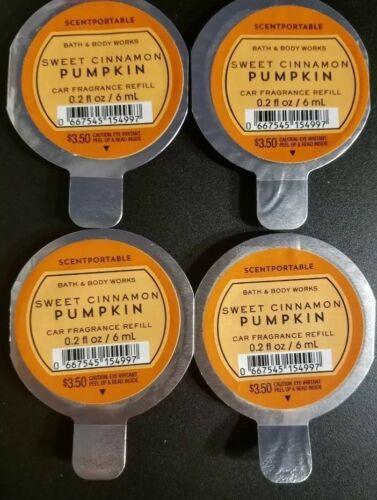 BATH & BODY WORKS Sweet Cinnamon Pumpkin SCENTPORTABLE FRAGRANCE REFILL DISC~4