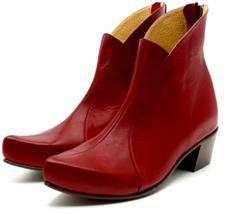 Superior Sangria Cuban Heel Nice Looks Zip Fastening Women Leather Ankle Boots - $149.99+