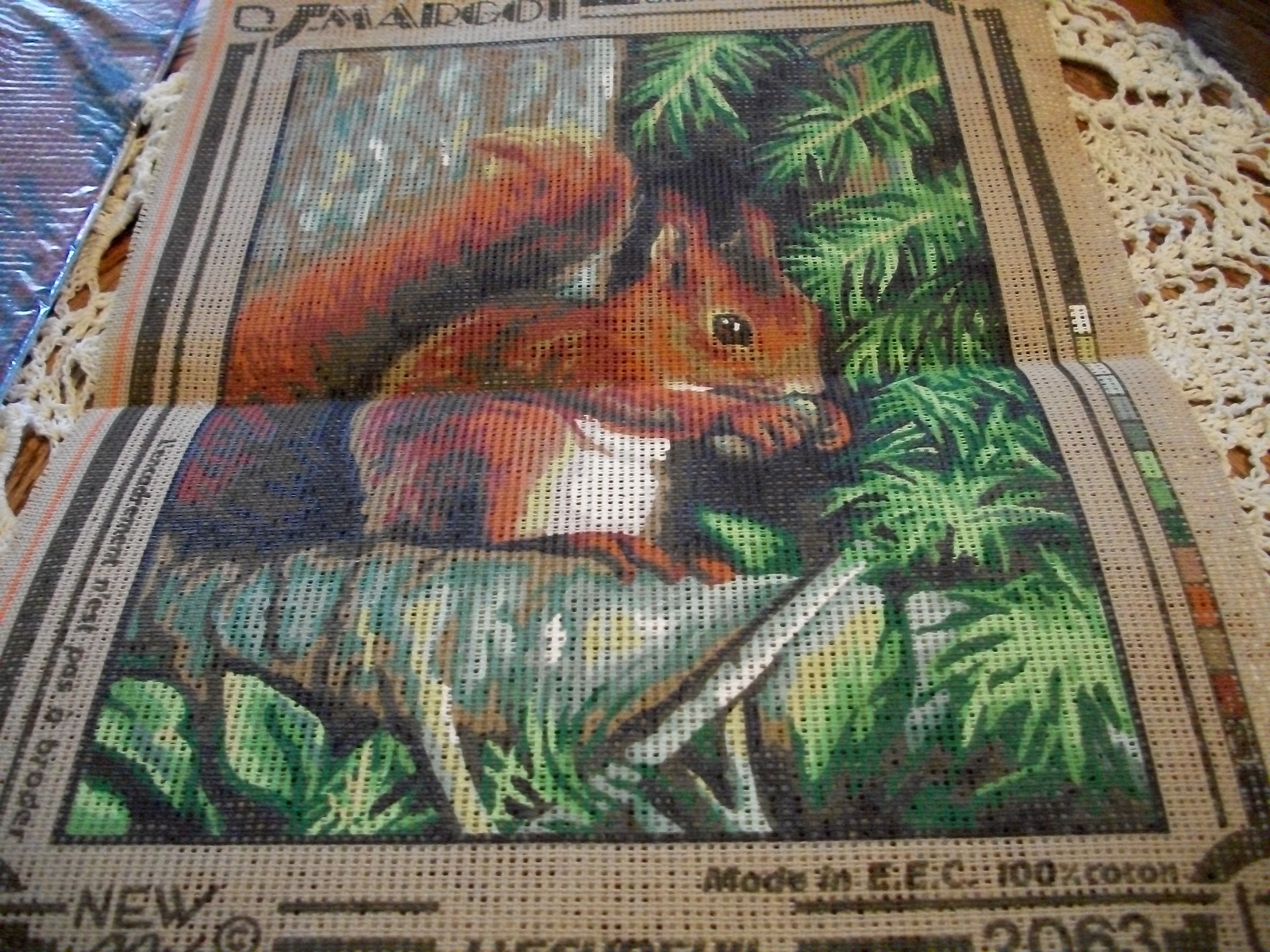 Primary image for Margot Creations of Paris~Squirrel Needlepoint Canvas Pattern 2063