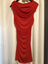 Nordstrom Spense Red Ruched Midi Dress Size 4 - $18.69