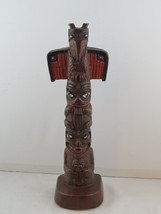 "Vintage Ceramic Cast Totem Pole - 12"" Tall Hand Painted by Shamans Canada - $75.00"