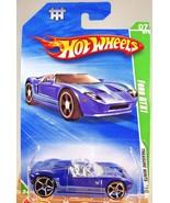 2010 Hot Wheels #051 Treasure Hunts 7/12 FORD GTX1 Blue w/OH5 Spoke Wheels - $9.60