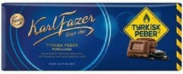 Karl Fazer Tyrkisk Peber milk chocolate with salty liquorice 10 Bars 2kg 70oz - $64.34