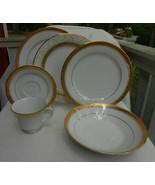 55 p NORITAKE MAJESTIC GOLD DINNERWARE PLATE 4290 DINNER SOUP PLATTER BO... - £382.85 GBP