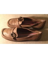 Bass Camel Tan Brown Leather Slip-ons Size 7.5 Style Marianna EUC - $3.17