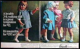Toy Doll Janie Walker 1965 Grants Toy Doll 2 page Magazine AD - $9.99
