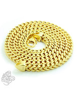 Mens Franco Chain Necklace 14k Yellow Gold Plated Sterling Silver Italy ... - £42.31 GBP+