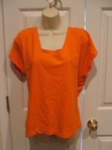New in Pkg J.S. Internatrional/Newport News Bright Orange 100% Cotton To... - $10.88