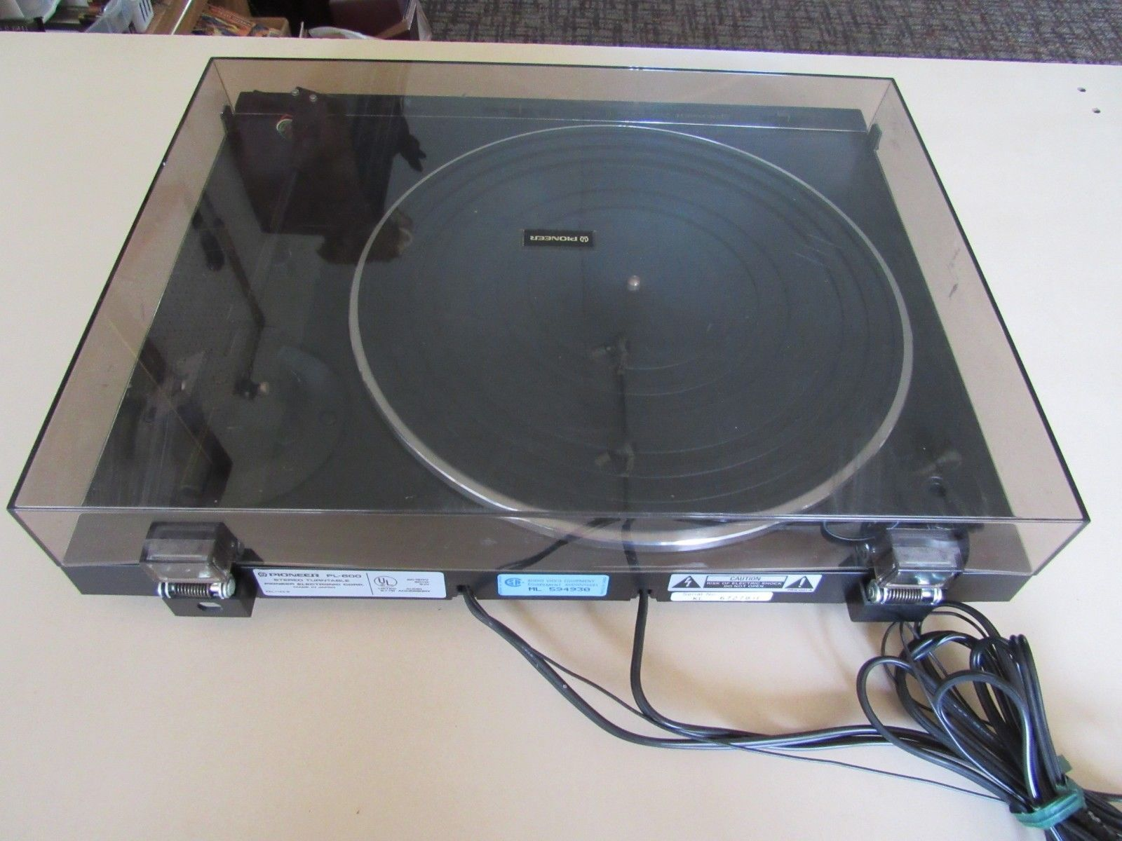 Pioneer Stereo Turntable PL-600  Needs Belt