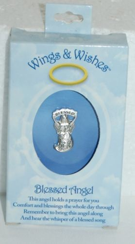DM Merchandising Wings Wishes Blessed Angel Silver Color Number