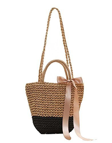 Primary image for Beautiful Straw Handbag Shoulder Bag Women Straw Weave Tote, A1