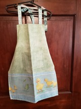 Child/Youth Lined Cotton Apron with pockets/Cute Baby Ducks! Child Med (5T - 6T) - $12.99