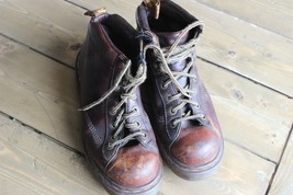 Distress Doc Dr Martens Air Wair Brown Leather Boots Size US 9 - $89.10