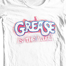Grease is the Word T shirt retro 70s musical movie 100% cotton white tee PAR135 image 2