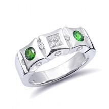Natural Russian Demantoid Garnet 0.36 carats set in 14K White Gold Ring - $2,975.00