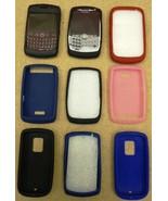 Silicone Skin Cases fBlackberry HTC Smartphones 9ct - $25.14
