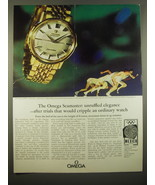 1966 Omega Seamaster Watch Advertisement - unruffled elegance - $14.99