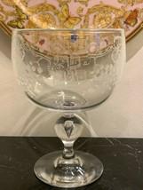 Rare Steuben Signed Bernard X. Wolff Engraved Judaica Kiddush Seder Chal... - $4,950.00