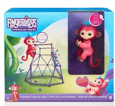 PINK AIMEE & JUNGLE GYM PLAYSET - FlNGERLINGS Pet Baby Monkey - REAL AUT... - $24.99