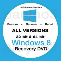 WINDOWS 8 HOME 32 Bit Recovery Install Reinstall Boot Restore DVD Disc Disk - $7.99