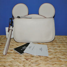 Coach X Disney Mickey Ears Leather Wristlet Ltd Edition Collection Chalk image 4