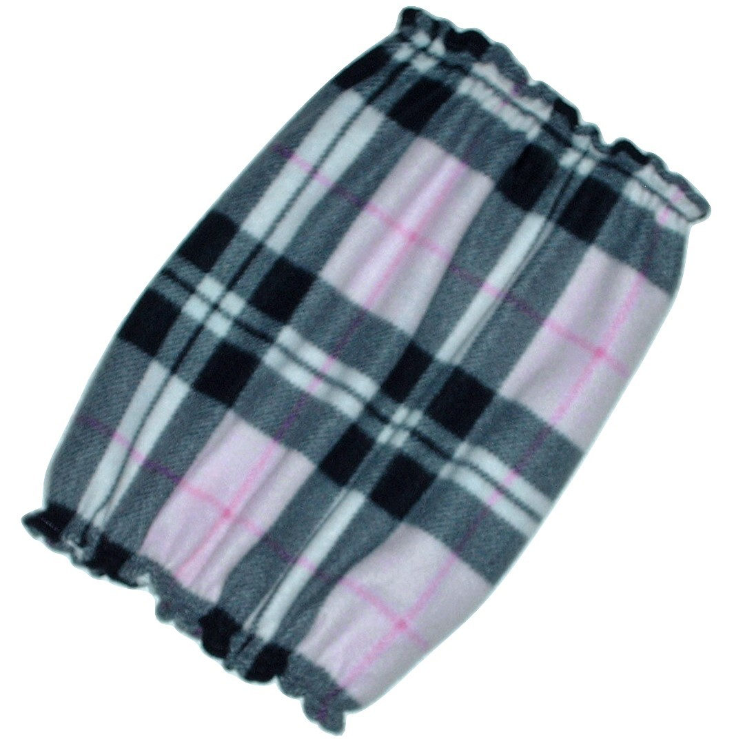 Pink Black White Plaid Fleece Dog Snood by Howlin Hounds Bloodhound Size XL