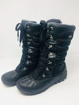 WOMEN'S TIMBERLAND Mount Holly Tall Lace Duck Boots Black 21645 Size 7 M - $759,11 MXN