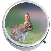Bunny Rabbit Medicine Vitamin Compact Pill Box - $9.78