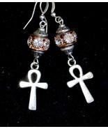 Key of life earrings, Egyptian cross earrings, Ankh earrings, Boho (E975) - $13.99
