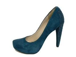 Nine West Cold Feet Womens Pump Leather Top Green Platform Slip On Size ... - $29.96