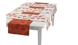 Fall Thanksgiving Autumn Maple Leaves Reversible Table Runner Set (4) - $34.64