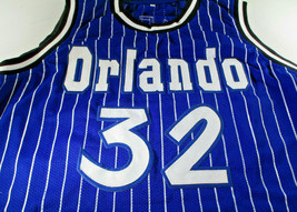 SHAQUILLE O'NEAL / AUTOGRAPHED ORLANDO MAGIC PINSTRIPED CUSTOM JERSEY / BECKETT image 2