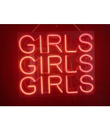 "New Girls Girls Girls Wall Decor Real Glass Neon Sign 20""X16"" - $123.00"