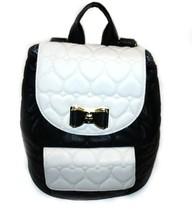 Back To School BackPack, Betsey Johnson Bow Flap Backpack BE MINE, Black/Bone - $72.99
