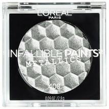 NEW L'Oreal Paris Infallible Paints Metallic Single Eyeshadow #408 Aluminum Foil - $4.99