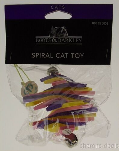 Boots Barkley Spiral Cat Toy Set 3 Bells Fun Soft Amusing Exercise Throw Play image 2