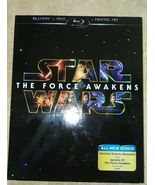 STAR WARS The Force Awakens 2 disc Ford Fisher Ridley Poe Rey NEW Sealed - $29.99
