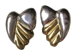 Vintage SB Sterling Silver Clip On Earrings Modernist 926 Statement - $39.59
