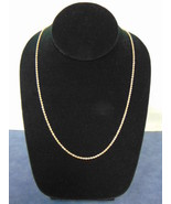VINTAGE ESTATE 14K YELLOW GOLD ROPE NECKLACE 9.7g  E2541 - $675.00