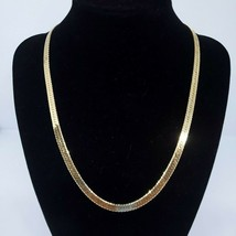 "DM Signed Yellow Gold Plated Fashion Statement Chain 18"" Necklace Jewelr... - $9.97"