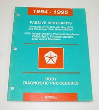 94-95 Dodge Jeep Plymouth Passive Restraint Diagnostic Procedures Manual USED - $12.82