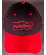 PURIFOY Chevrolet Hat-Black Red-Baseball Cap-Corvette Car-Hook Loop-Otto... - $28.04