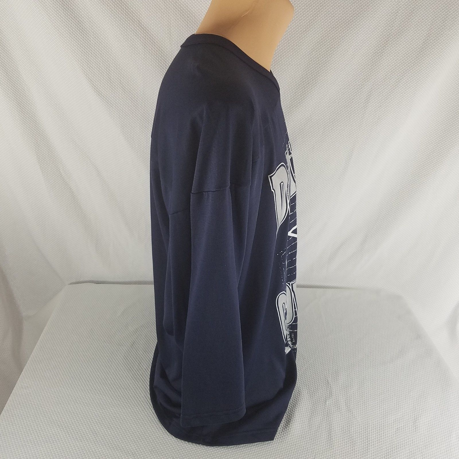 Majestic Dallas Cowboys NFL Navy Blue Silver Jersey Shirt XXL Made In The USA