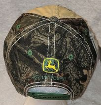John Deere LP64489 Tan And Mossy Oak Camo Adjustable Baseball Cap image 4