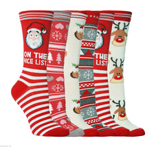 1 Pair Ladies Festive Christmas Novelty Socks Size 4-8 Uk, 37-42 Eur, 5 ... - $2.60