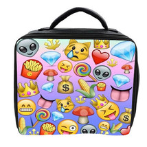 EMOJI MIX LUNCH BAG 3 COLOURS AVAILABLE - CAN BE PERSONALISED SCHOOL - $20.85