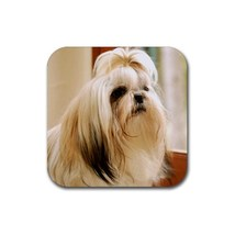 Cute Shih Tzu Dog Breed Puppy Puppies Dogs Pet Animal (Square) Rubber Co... - $1.99
