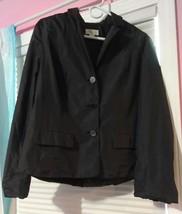 TALBOTS  Black All Season  Womens Nylon Blazer Suit Jacket Size 12 - $10.09