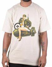 LRG Men's Black or Putty Killen EM Softly Sexy Pinup Army Girl Bomb T-Shirt NWT image 4
